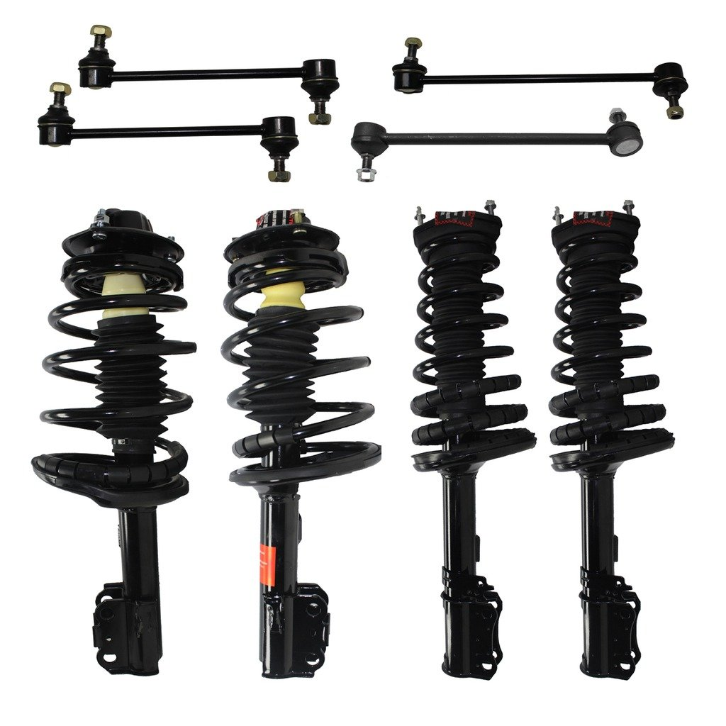 Detroit Axle All Front /& Rear Driver /& Passenger Side Complete Strut /& Spring Assembly with 1997-2001 Toyota Camry 2.2L Only 4 Sway Bar End Links for 4-Cylinder Only