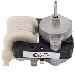 ApplianPar W10189703 Refrigerators Evaporator Fan Motor Replacement for Whirlpool Maytag Roper Amana Freezers AP6016598 10449505 2188848 2197381