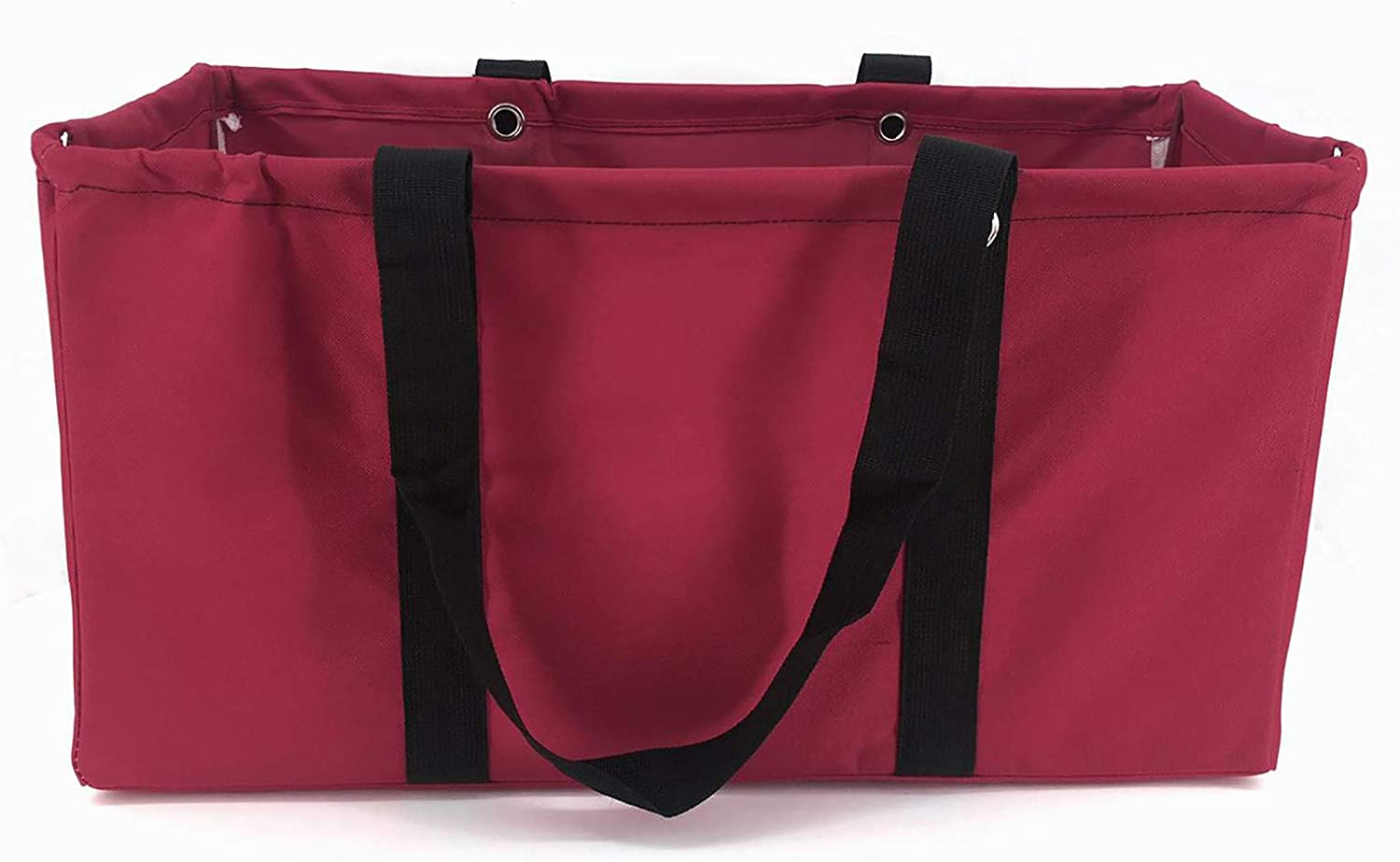 April Fashions All Purpose Open Top Utility Bag, Collapsible Wire Frame Trunk Organizer, Market, Utility Bags (NU-202C Maroon)