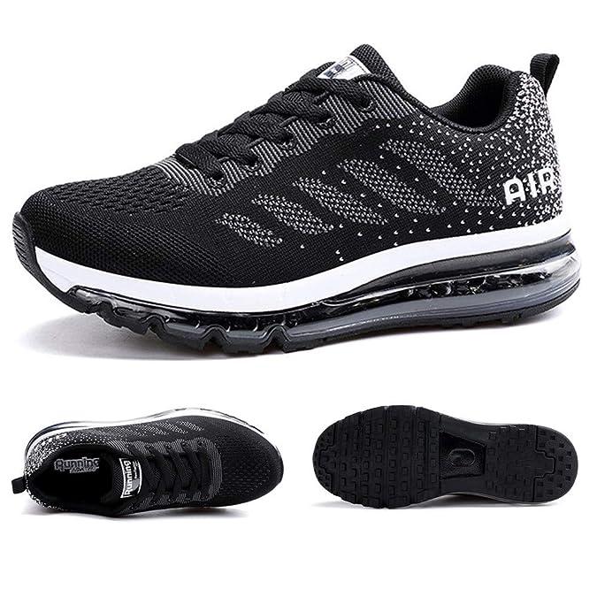 Axcone Zapatillas Hombres Mujer Deporte Running Zapatos para Correr Gimnasio Sneakers Deportivas Padel Transpirables Casual 34-46EU