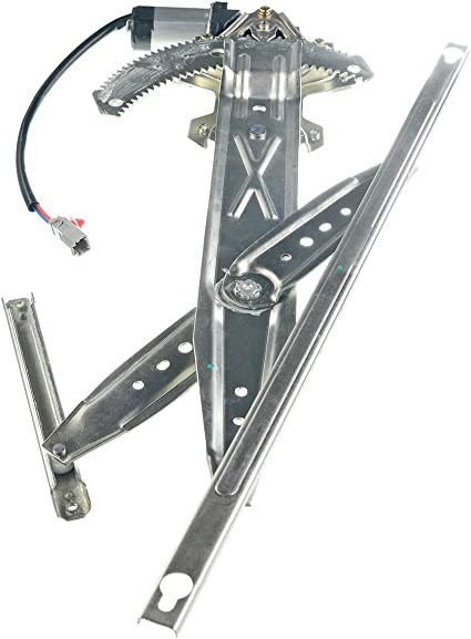 Power Window Lift Regulator on Front Left Drivers Side with Motor Assembly Replacement for 1996-2000 Honda Civic 2 Door