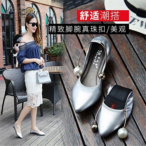 Summer Toe donna per Flats Casual Microfiber Scarpe Size da Scarpe camminata Heel D Comfort da SHINIK Flat Pointed Large xIBqwOR