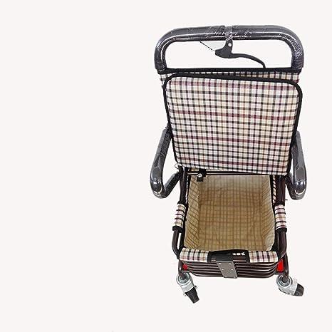 Carrito de la compra carrito de cuatro ruedas plegable de metal supermercados a 4 ruedas cesta