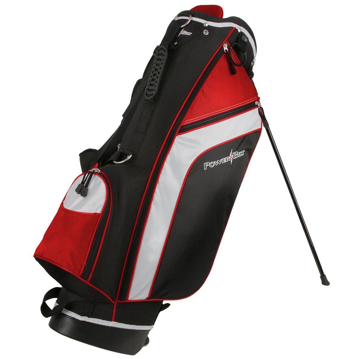 PowerBilt Santa Rosa Black/Red Stand Golf Bag (Black/Red)