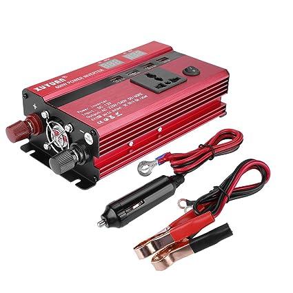 KIMISS 350W/600W Inversor de corriente DC 12V to 110V/220V ...