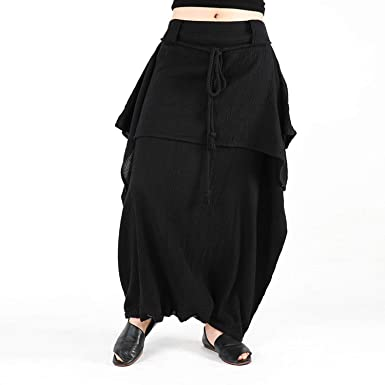 078b0c5a7f81 Trousers Women Cotton and Linen Plus Size Pants Vintage Loose Casual Harem  Skirt Pants Summer Fashion Wide Leg Pants at Amazon Women s Clothing store