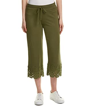 Bailey44 Womens Lace-Trim Pant, M, Green
