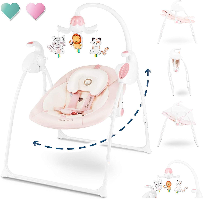 Lionel Robin Silla Mecedora para Bebé, 68 x 67 x 83,5 cm, Rosa