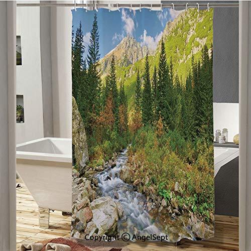 Roztoka Stream Tatra National Park Carpathian Mountains Poland Woods Bathroom Shower Curtain(37