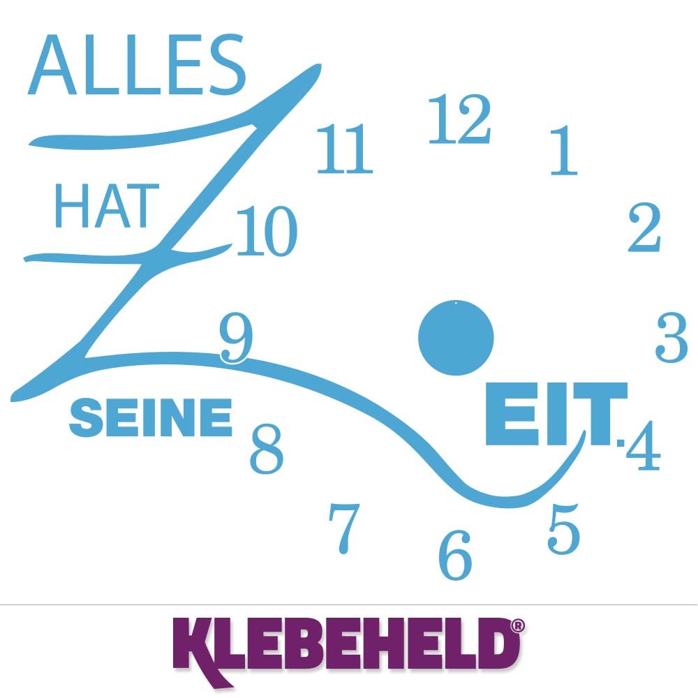 KLEBEHELD® Wandtattoo Uhr Uhr Uhr Alles hat seine Zeit mit Uhrwerk   Größe 68x55cm (B x H)   Uhr schwarz   Umlauf 44cm, Farbe lehmbraun B01M9DBNPI Wandtattoos & Wandbilder 433a19