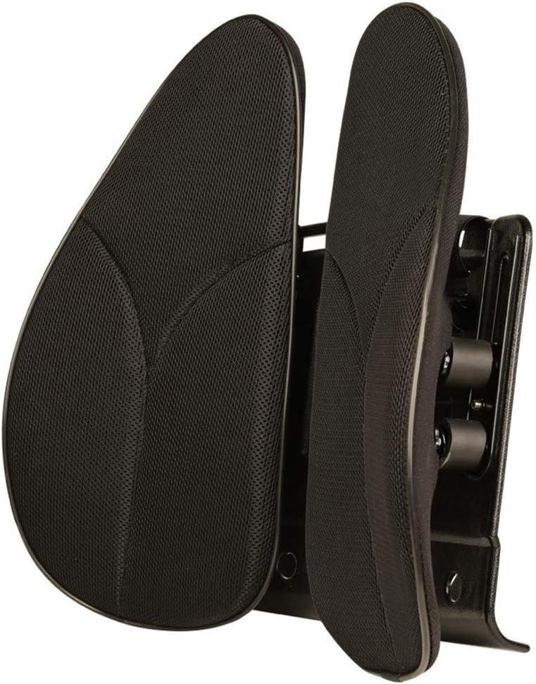 Almohada de asiento Órtesis del cojín del asiento, cojín ergonómico del soporte lumbar del asiento del automóvil, deformación a largo plazo, plástico ABS transpirable. (Color : Black)