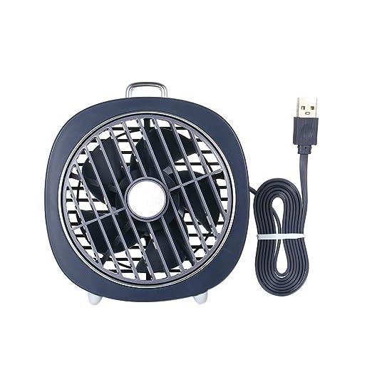 Godyluck Mini Ventilador de Mesa USB con Cubierta giratoria ...