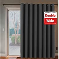 Thermal Insulated Eyelet Blackout Curtains for Christmas & Thanksgiving Gift, Sliding Door Patio Door Curtains, Living Room Divider Curtains