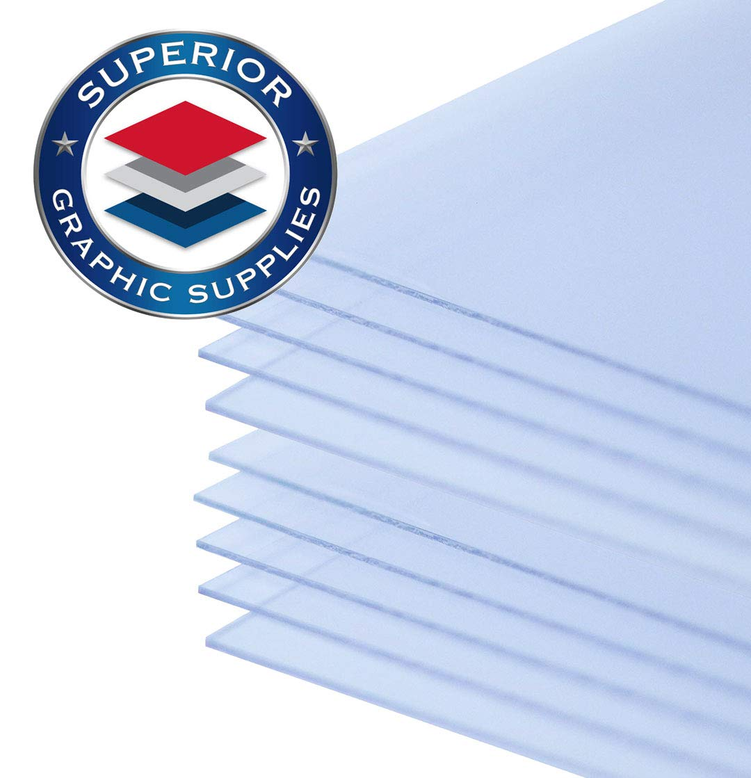 """Superior Graphic Supplies PETG Clear Plastic Sheets (12 Inches X 12 Inches)