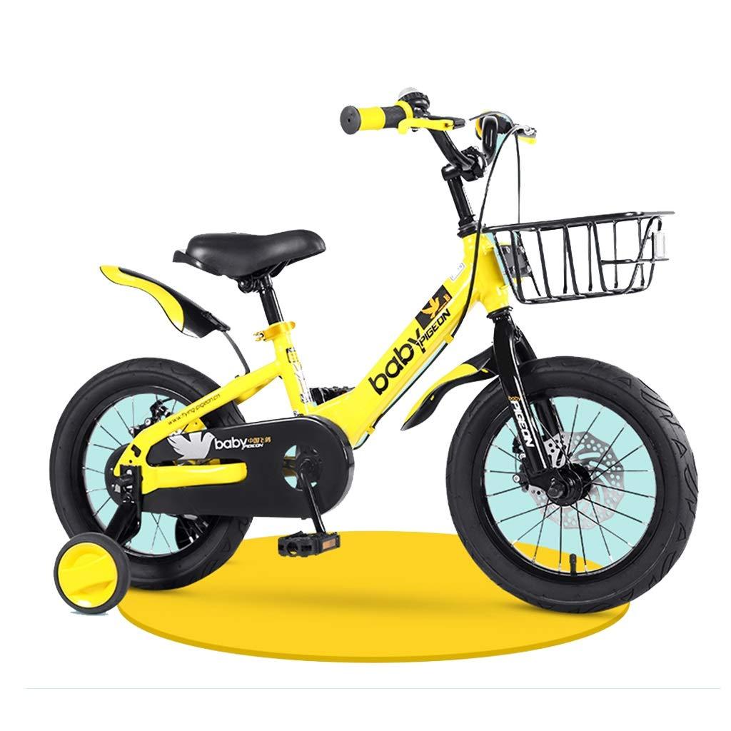 子供の自転車ブルーボーイ自転車写真ブルーボーイ自転車2-4-6-7-8歳子供用自転車ビスタプリント14,16,18インチ自転車アウトドアスポーツバイク写真アウトドアスポーツバイクガールバイク (Color : Yellow, Size : 18inches) 18inches Yellow B07P3KZKRQ