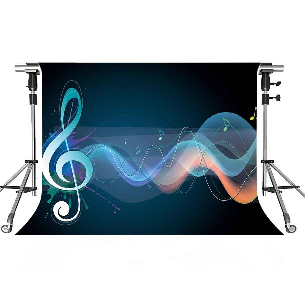 音楽ステージバックドロップ注意写真背景meetsioy 7 x 5ftテーマパーティー写真ブースYoutube Backdrop pmt403   B07FVVSZ2T