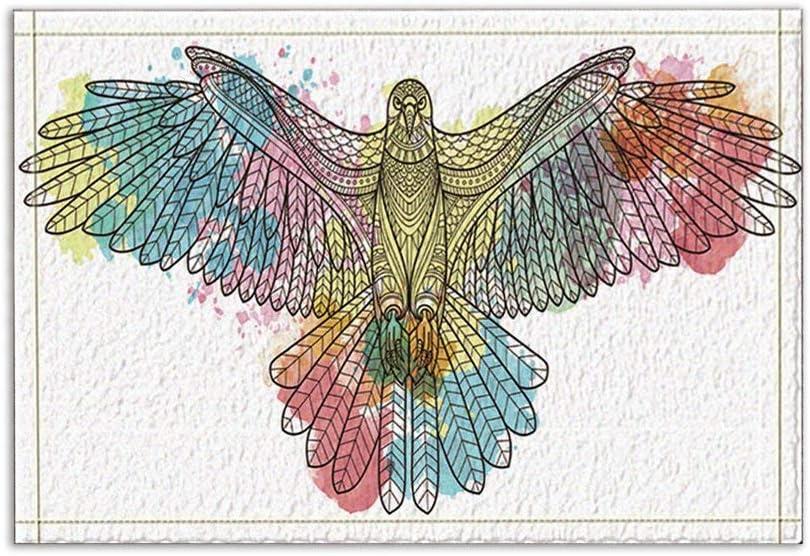 JoneAJ Alfombras baño en Forma Ave para decoración Aves, en Forma Ave Águila Antideslizante Entradas al Aire Libre Alfombra Puerta Delantera para Interiores 15.7x23.6in Alfombras baño: Amazon.es: Hogar