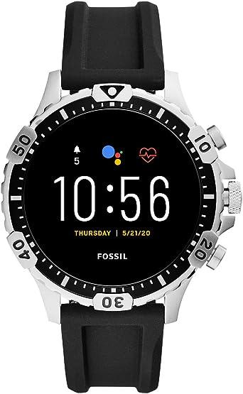 Fossil Gen 5 Smartwatch Garrett HR con Correa de Silicona Negra ...