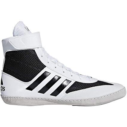 adidas Combat Speed 5 Men's Wrestling Shoes, WhiteBlack, Size 6