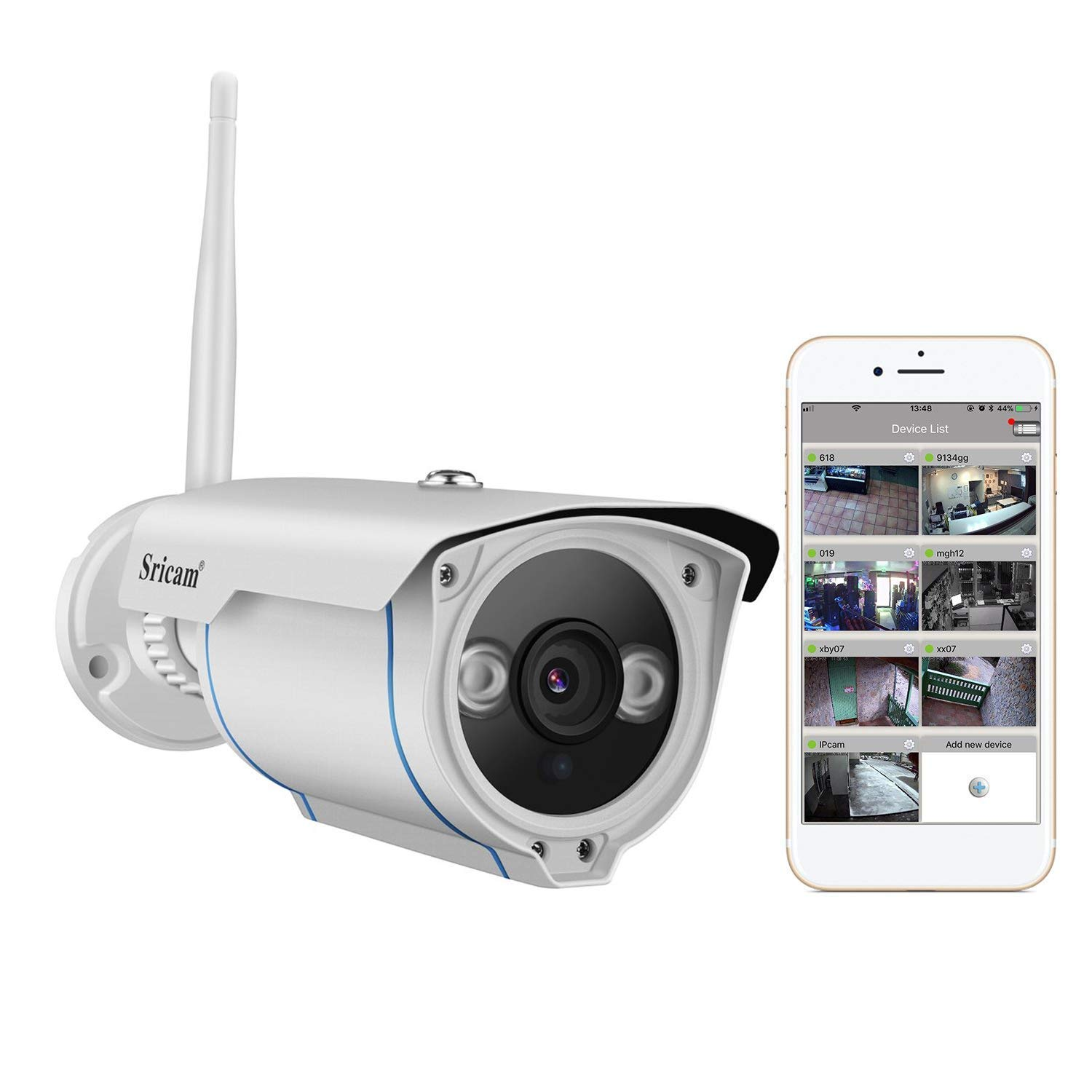 Outdoor Waterproof 1280*720p 1.0mp 2 Array Powerful Led Nightvision Bullet Ip Camera Onvif 2.0 Megapixel Lens Pure White And Translucent Surveillance Cameras Security & Protection