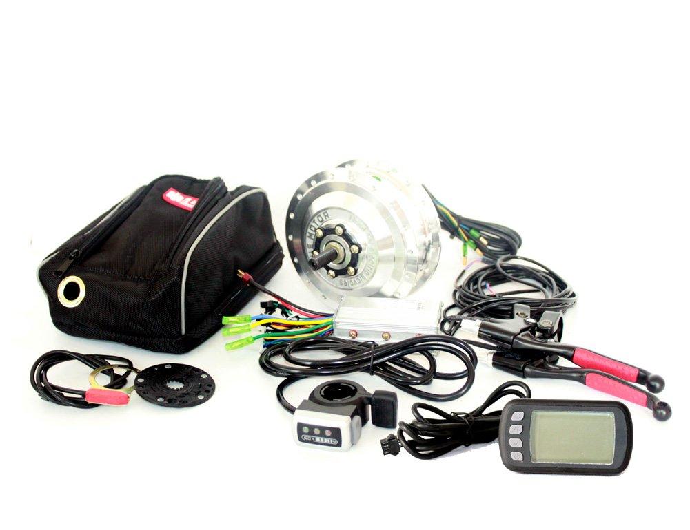 24v36v48v 250ワット電動自転車フロントホイール変換キット付き液晶ディスプレイe-バイクフロントブラシレスハブモーターコントローラ付き液晶 [並行輸入品] B07B6M8J4R 24V Thumb 24V Thumb