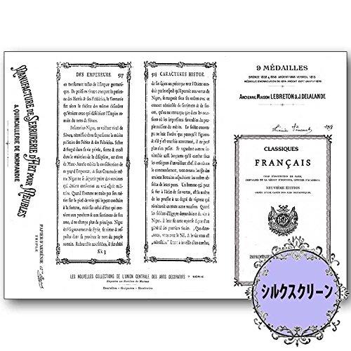 シルクスクリーン 河崎香 Antique book