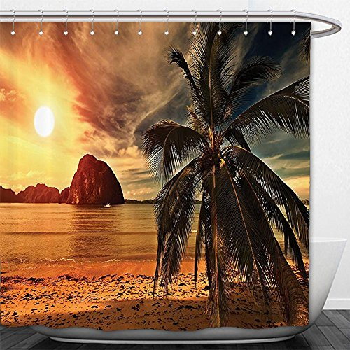 Beshowere Shower Curtain Ocean Set Hawaiian Decor Sunrise Over Hanauma Bay On Oahu Hawaii SunbeamThrough Dark CloudShore Bathroom Accessoriewith HookW - Macys Oahu