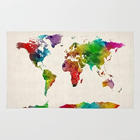 Amazon society6 watercolor map of the world map rug 2 x 3 society6 watercolor map of the world map rug 2 gumiabroncs Images