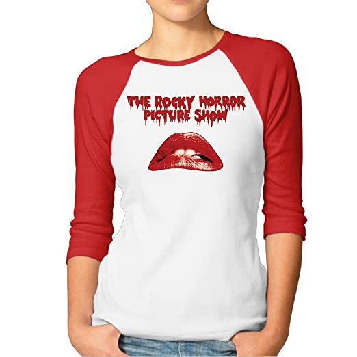 7df41c0daf3 Women s Film Rocky Horror Picture Show Big Lips Funny Baseball Jerseys  Shirts