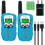 Sigdio Walkie Talkies Niños PMR446 con 8 Piezas Baterías Recargable y Cargador 8 Canales Función VOX LCD Pantalla 10…