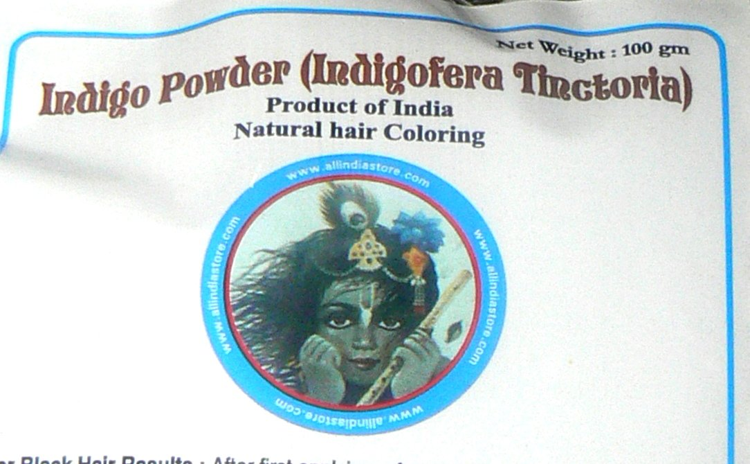 Indigo Powder ALL INDIA STORE BRAND 4 x 100 Grams Bags (14 oz total)Indigofera Tinctoria (wasma in Arabic and Urdu) Last Crop - by All India Store (Image #1)