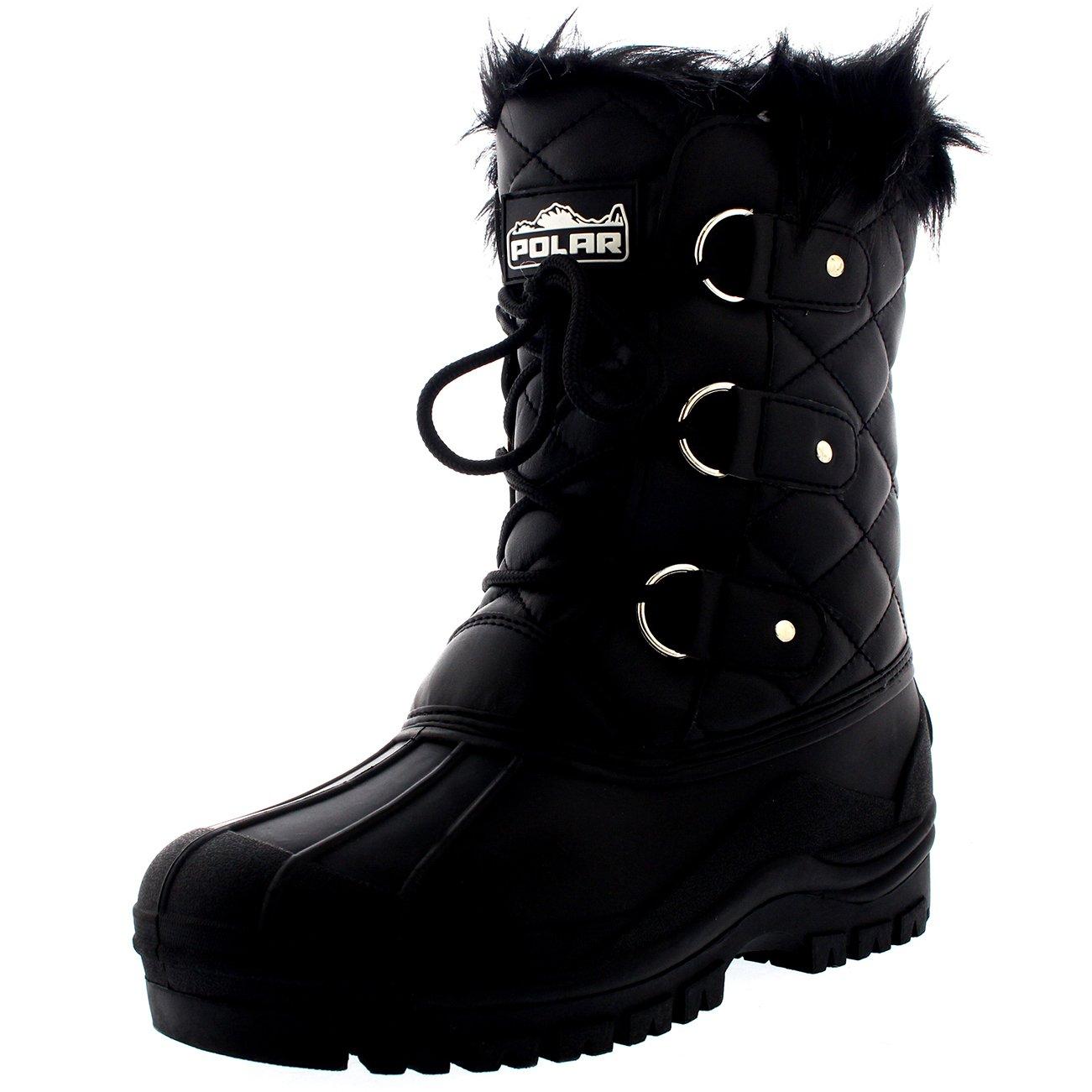 Polar Womens Mid Calf Mountain Walking Tactical Waterproof Boots