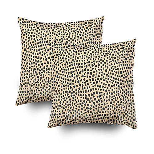 ROOLAYS Decorative Throw Square Pillow Case Cover 16X16Inch,Cotton Cushion Covers Animal skin pattern Abstract background Both Sides Printing Invisible Zipper Home Sofa Decor Sets 2 PCS Pillowcase