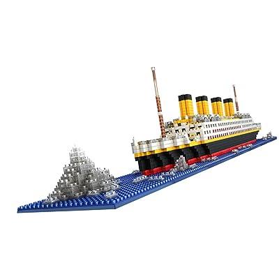 1860pcs Juguete Modelo de Bloque Gran Titanic Building Blocks Envío Asamblea Niños: Juguetes y juegos