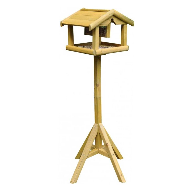 Premium sur pied en bois pour oiseaux avec toit intégré de écrou à insérer Sabar