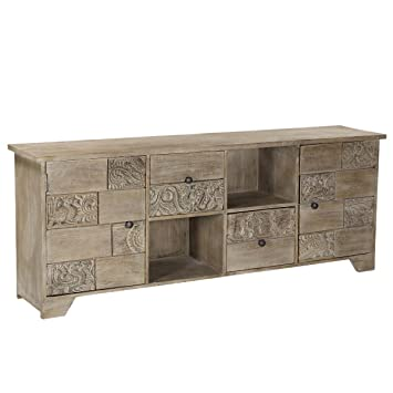 Amazon.com: Aparador rústico de madera reciclada moderno ...