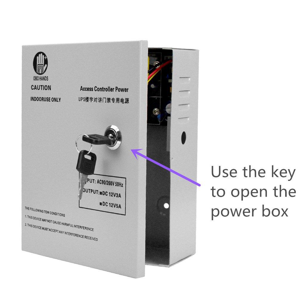 OBO HANDS Alta Calidad AC90 V//260 V 5 un Acceso Control Fuente de Alimentaci/ón Caja para Todo de Tiempo de Bloqueo de Puerta con El/éctrico