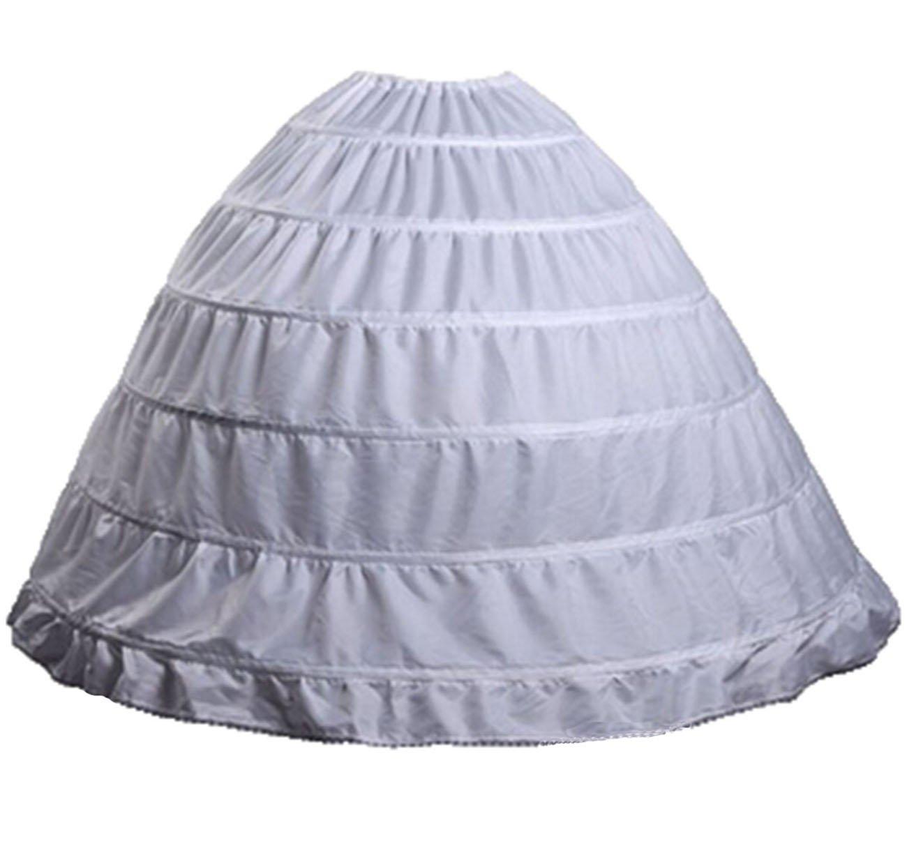 V.C.Formark 6 Hoops Petticoat Under Slips White Crinoline for Ball Gown Bridal Wedding Dress