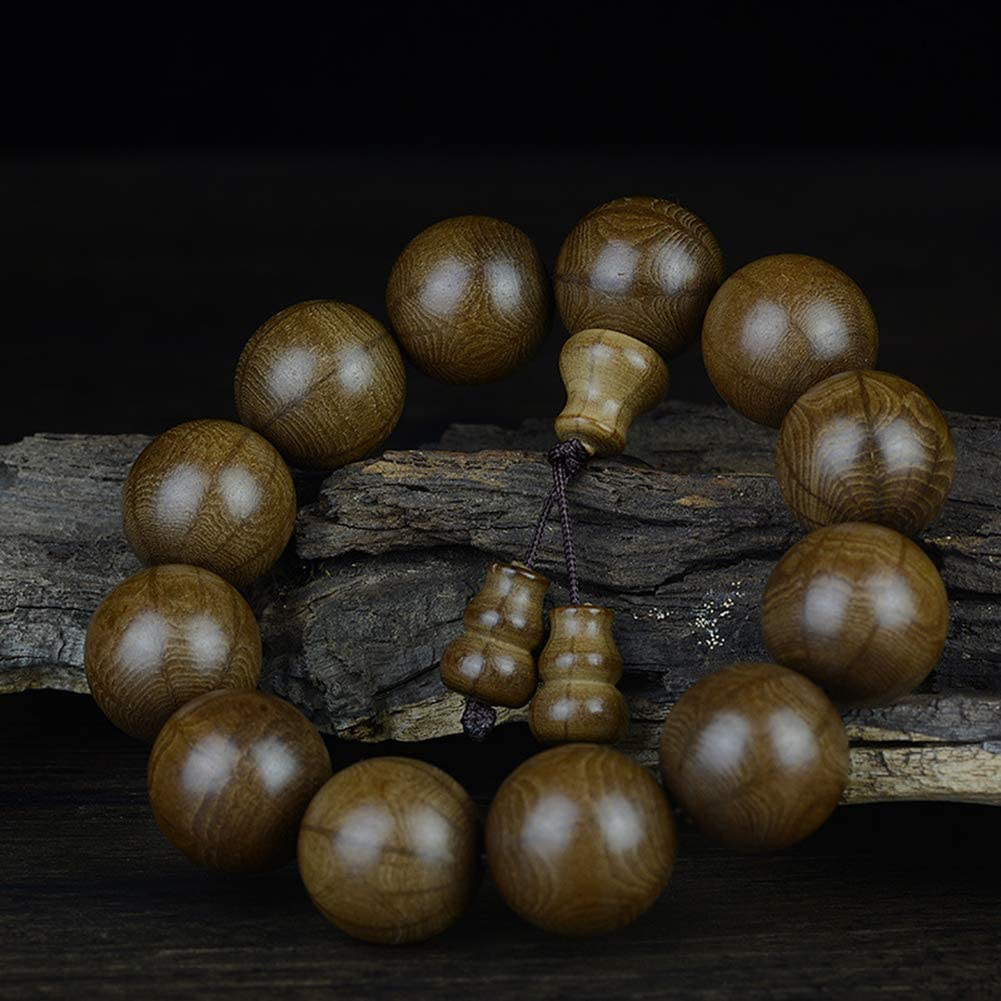 JAJAFOOK 108 Natural Wood 8mm 10mm Beads for Men Women Genuine Abeliae Wood Tibetan Buddhism Meditation Prayer Bracelet Necklace