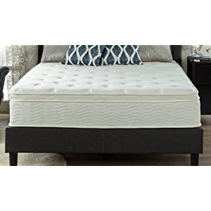 Zinus Ultima Comfort 12 Inch Euro Box Top Spring Mattress, King