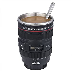 Camera Lens Mug/Lens Coffee Mug(Creative Cup Design Is Simulation To The Canon Ef 24-105MM Lens / 1:1 Model Coffee Cup / Stainless Steel Inside)
