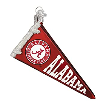 Old World Christmas Ornaments: Alabama Pennant Glass Blown Ornaments for  Christmas Tree - Amazon.com: Old World Christmas Ornaments: Alabama Pennant Glass
