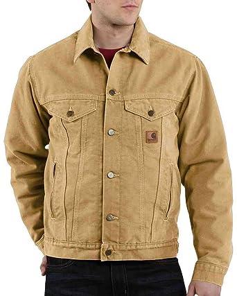 08076cca0b3 Carhartt J233 Men's Sandstone Jean Jacket/Sherpa Lined Wheat Large ...