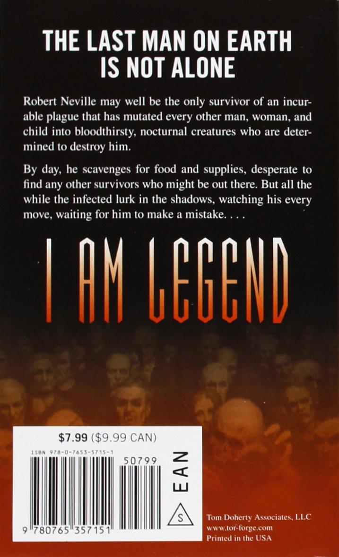 I Am Legend Matheson Richard 9780765357151 Amazon Com Books
