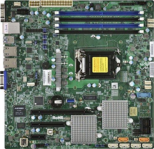 Supermicro X11SSH-CTF Placa Base para - Servidor (Intel, LGA 1151 (Zócalo H4), E3-1200, 80 W, DDR4-SDRAM, 1600,1866,2133 MHz)
