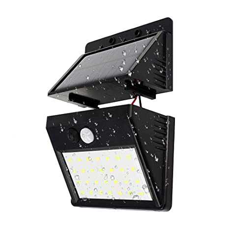 28 LED Sensor de Movimiento Solar Desmontable Lámpara de Energía Solar Separada Lámpara de Pared Exterior