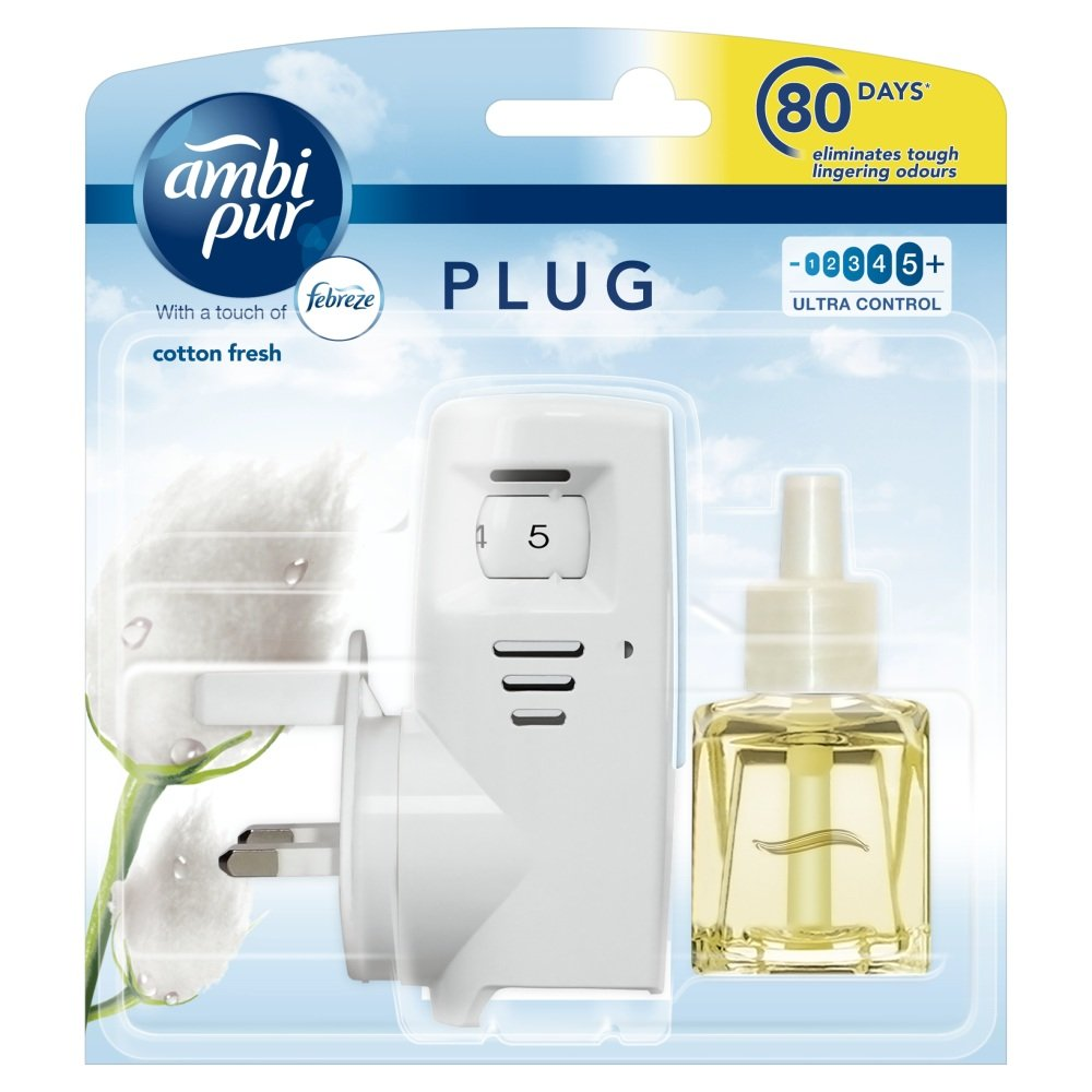 Ambi Pur Cotton Fresh Air Freshener Plug-In Starter Kit, 20 ml Proctor & Gamble 108379438