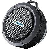 VicTsing Shower Speaker 5W, Mini Bluetooth Portable Speaker with Suction Cup, Waterproof Speaker built-in Mic, Hands-Free Speakerphone - Gray