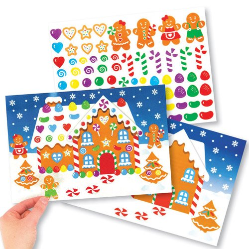 Gingerbread House Sticker Scene Kits Perfect For Xmas Children's Arts, Crafts And Decorating For Boys And Girls (Pack of - Gingers Fund