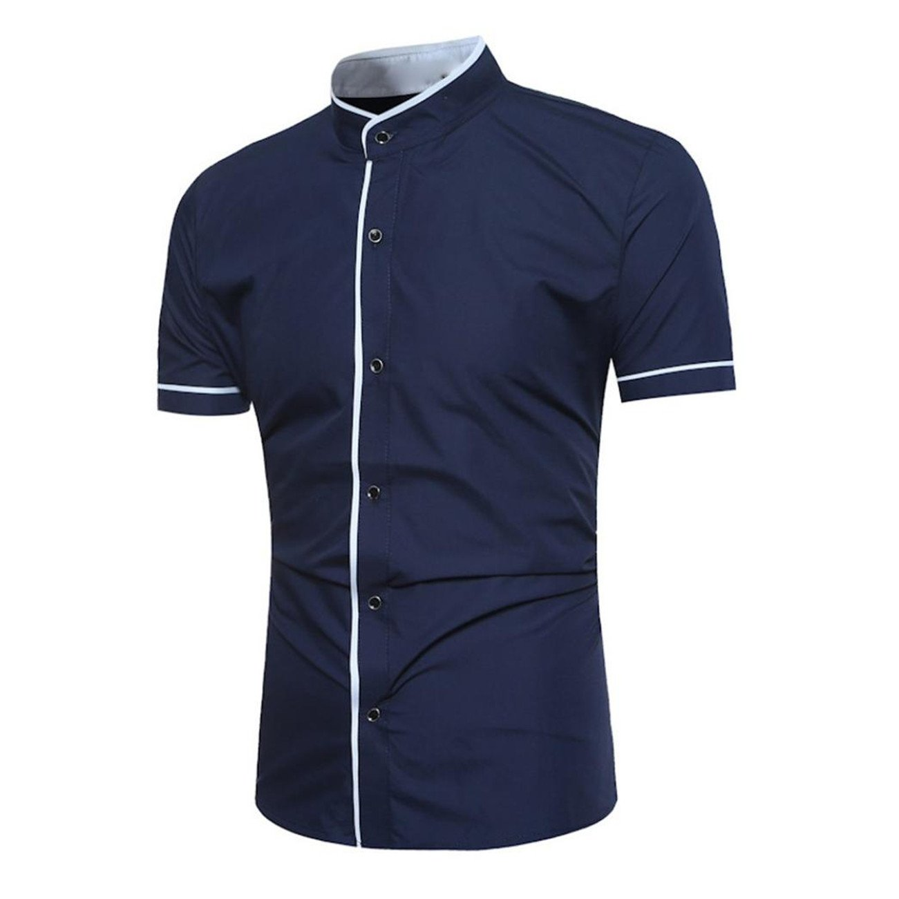 Chemises Homme Chemises Bureau Chemises BoutonnéEs T-Shirt à Manches Courtes à Manches Courtes pour Hommes HCFKJ - MS